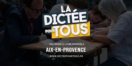 La dictée pour tous à Aix en Provence billets