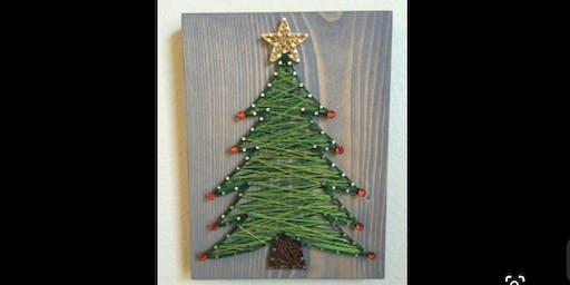 Christmas Themed String Art Class