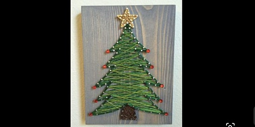 Christmas Themed String Art Class