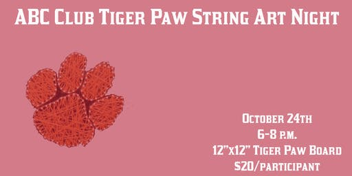 DIY Tiger Paw String Art Night