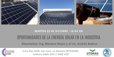 OPORTUNIDADES DE LA ENERGIA SOLAR EN LA INDUSTRIA entradas