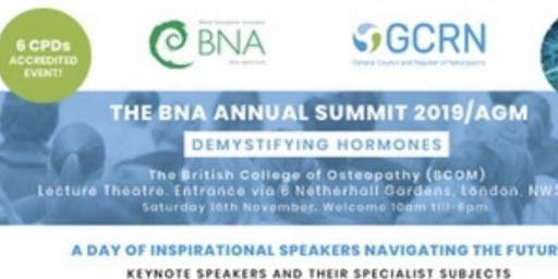 BNA Congress 2019 - Demystifying Hormones