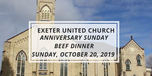 Exeter United Church Anniversary Beef Dinner