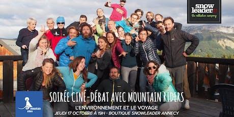 Soirée ciné-débat avec l'association Mountain Riders - Snowleader Annecy billets