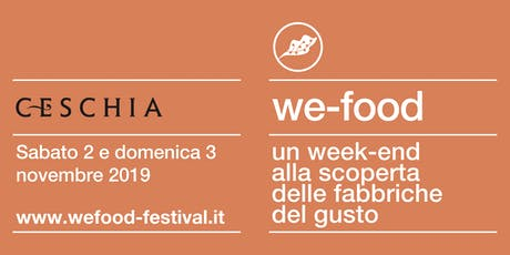 We-Food 2019 @ Distilleria Ceschia biglietti