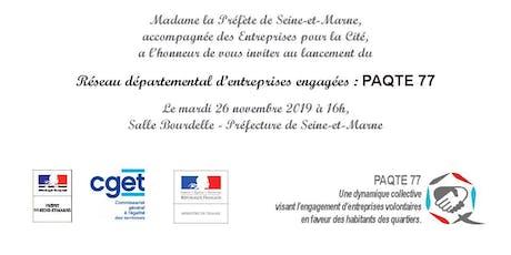 Lancement du réseau des entreprises engagées - PaQte 77 billets
