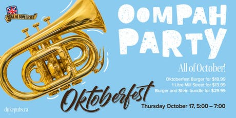 Oktoberfest at the Duke of Somerset tickets