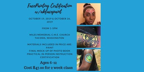 Facepainting Certification tickets