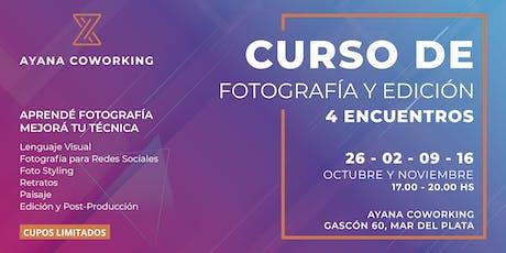 CURSO DE FOTOGRAFÍA Y EDICIÓN entradas