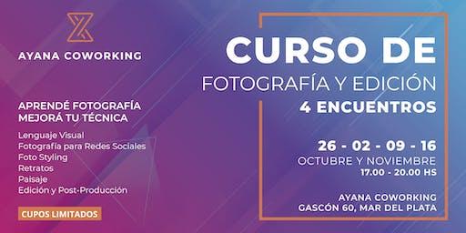 CURSO DE FOTOGRAFÍA Y EDICIÓN