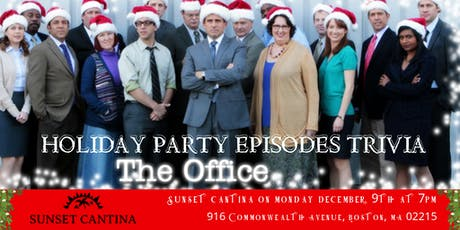 """The Office Trivia """"The Holiday Party Episodes"""" at Sunset Cantina tickets"""