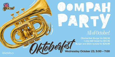 Oktoberfest at the Duke of York tickets
