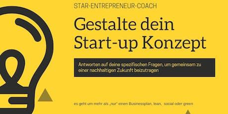 Gestalte dein Start-up Konzept tickets