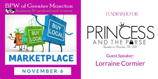 BPW November Meeting - Buy Local Marketplace and Princess & The Purse Fundraiser