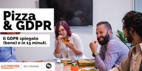 Pizza and GDPR: Il GDPR spiegato (bene)  biglietti