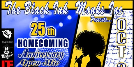 Black Ink Monk Homecoming Open Mic tickets