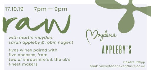 raw: wine and cheese pairing with moyden's & appleby's