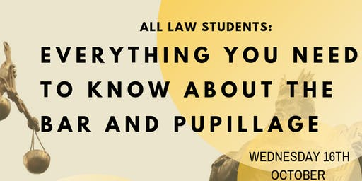 The bar and pupillage (OPEN TO ALL YEARS)