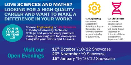 Open Evening at Derby Manufacturing UTC - 16th October 2019 tickets