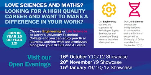 Open Evening at Derby Manufacturing UTC - 16th October 2019