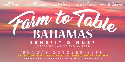 Five Chefs at the Farm: A Bahamas Benefit