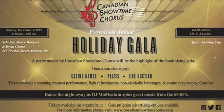 A cappella Gala Performance,  Dance 60s -80s  Casino, Auction & Prizes tickets