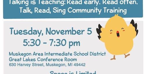 Talking is Teaching: Read early. Read often. Training