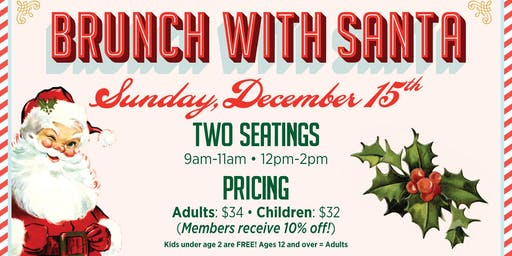 Brunch With Santa at Aviator Sports