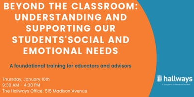 Beyond the Classroom: Supporting Our Students' Social and Emotional Needs