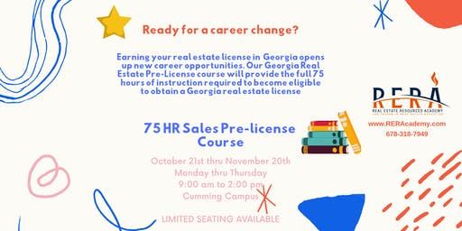 FALL RIGHT INTO THIS 75 HR SALES PRE-LICENSE COURSE