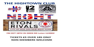 Mod 2Tone & Northern Soul Night with Eton Rivals