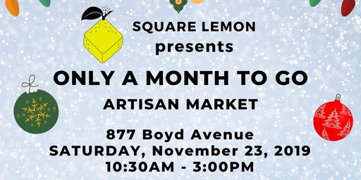 Only a Month to Go! Craft and Art Market