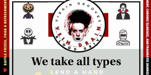 Virgin Grooves Vein Drain Blood Drive