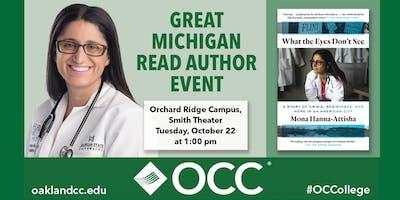 Great Michigan Read Author Event with Dr. Mona Hanna-Attisha