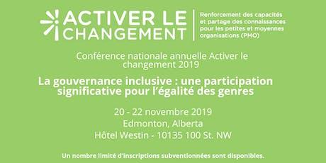 Conférence nationale  Activer le changement tickets