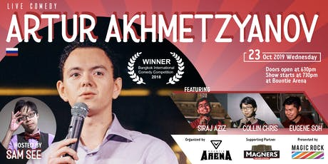 Live Comedy Night, Stand-up by Artur Akhmetzyanov, Siraj, Collin & Eugene tickets