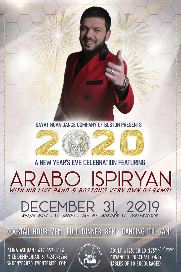 Boston New Years Eve 2020.New Years Eve 2020 With Arabo Ispiryan