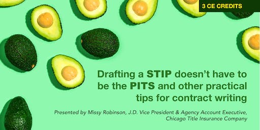 3 HR CE 'Drafting a Stip Doesn't Have to Be the Pits' with NRS