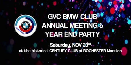 GVC BMW Club Annual Meeting & Year End Party ~ Nov 23, 2019 tickets
