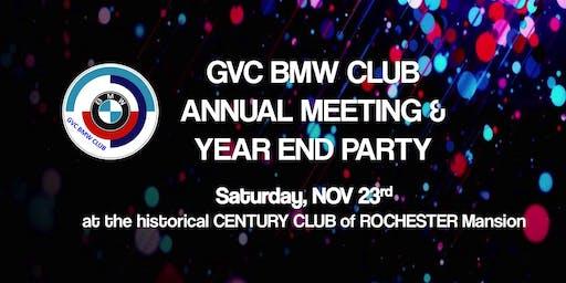 GVC BMW Club Annual Meeting & Year End Party ~ Nov 23, 2019