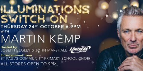 Martin Kemp to switch-on Springfields Festive Lights tickets