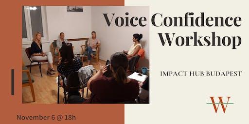 Voice Confidence Workshop - WomenAmbition Budapest
