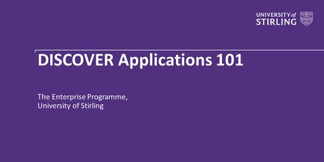 DISCOVER Applications 101 tickets
