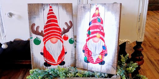 SOLD OUT - Reindeer / Tangled Lights Gnome Paint Night