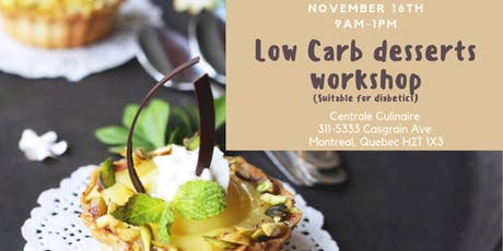 Low Carb Desserts Workshop (suitable for diabetics) tickets