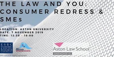 The Law and You: Consumer Redress & SMEs