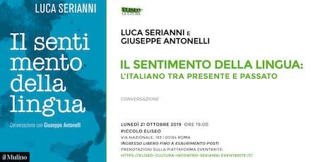Eliseo Cultura: incontro con Luca Serianni biglietti