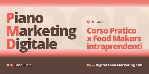 2. Piano Marketing Digitale | Corso per Food Makers Intraprendenti - Milano
