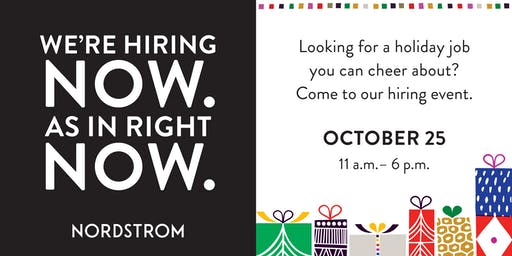 Nordstrom Stanford Shopping Ctr Hiring Day