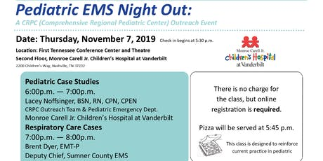 Pediatric EMS Night Out: A Class for Healthcare Professionals tickets